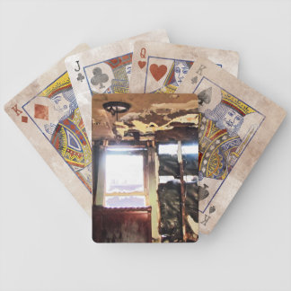 Window of Poverty Bicycle Playing Cards