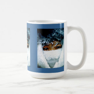 Window on a wintery world coffee mug