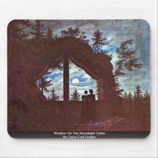Window On The Moonlight Oybin By Carus Carl Gustav Mouse Pads