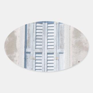 Window Oval Sticker