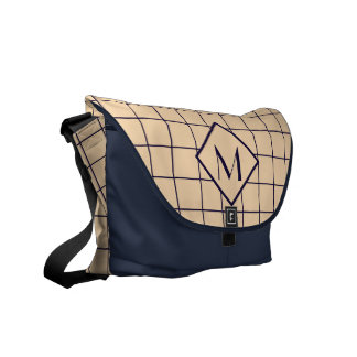 Window Pane Check Monogram Commuter Bag Messenger Bag