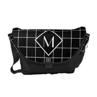 Window Pane Check Monogram Messenger Bag