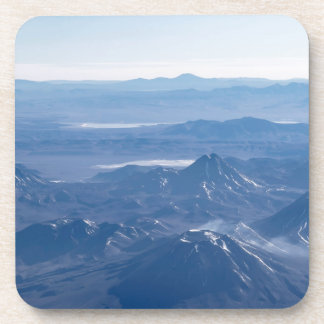 Window Plane View of Andes Mountains Beverage Coaster