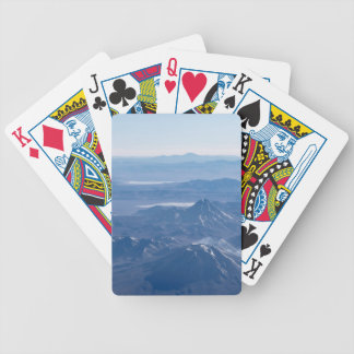 Window Plane View of Andes Mountains Bicycle Playing Cards