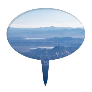 Window Plane View of Andes Mountains Cake Topper