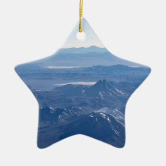 Window Plane View of Andes Mountains Ceramic Ornament