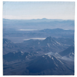 Window Plane View of Andes Mountains Cloth Napkin