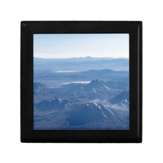 Window Plane View of Andes Mountains Jewelry Box