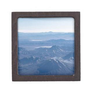 Window Plane View of Andes Mountains Keepsake Box