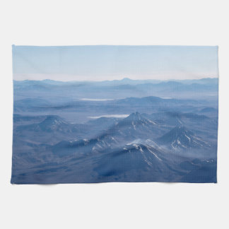 Window Plane View of Andes Mountains Kitchen Towel