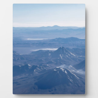 Window Plane View of Andes Mountains Plaque