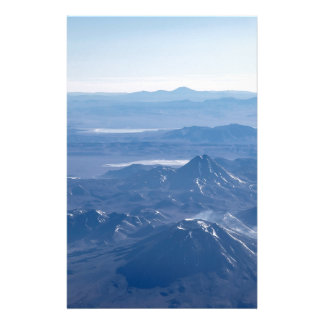 Window Plane View of Andes Mountains Stationery