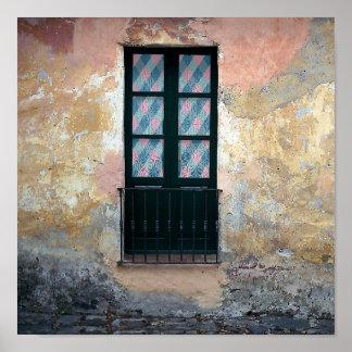 Window Railing Photo Poster