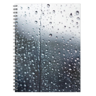 Window Raindrops Notebook