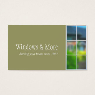 Window Replacement Installer Company Business Card