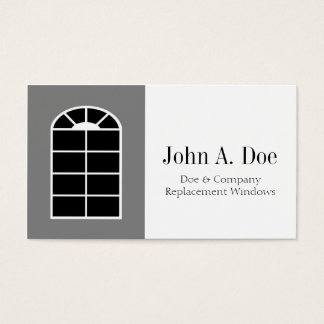 Window Replacement Installer/Company White Business Card