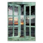 Window Scene Kauai Sunset Card