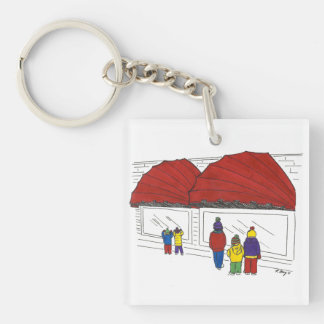 Window Shopping Christmas NYC New York Keychain
