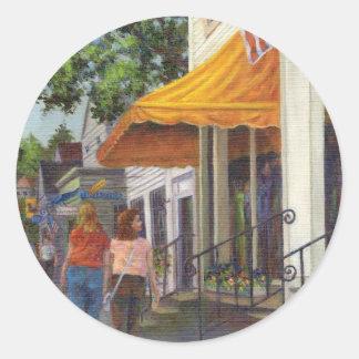 Window Shopping Classic Round Sticker