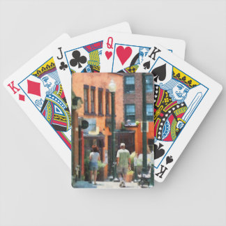 Window Shopping in Downtown Asheville Bicycle Playing Cards
