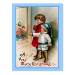 Window Shopping Vintage Christmas Card Post Cards