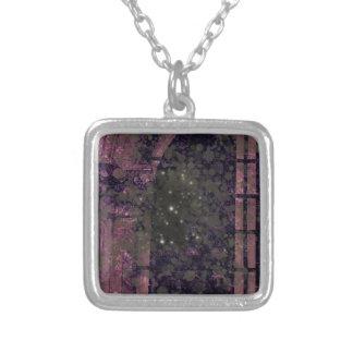 Window Spectre Square Pendant Necklace