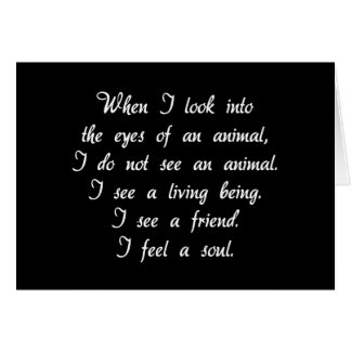 Window To A Soul Animal Notecards Card