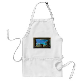 window to greece adult apron