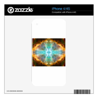 Window to Heaven Space Art Decal For iPhone 4