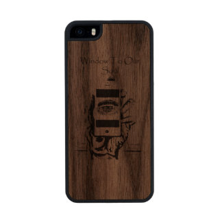 Window to Our Soul Wood iPhone SE/5/5s Case
