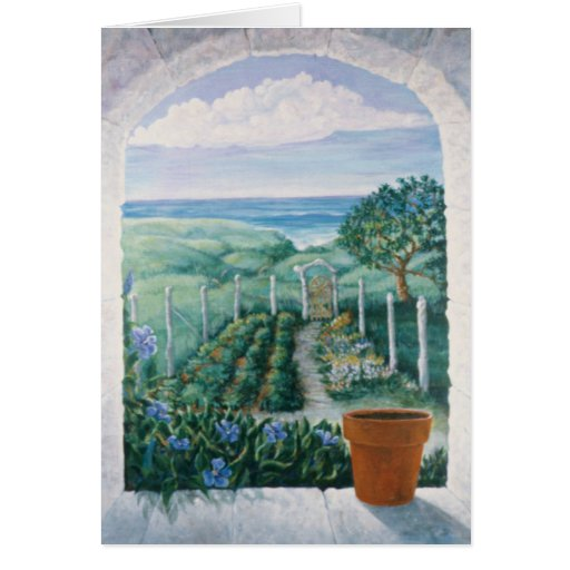 Window to the Garden Greeting Card