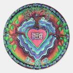 Window To the Heart Mandala Sticker