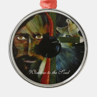 Window to the Soul Metal Ornament