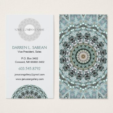 Professional Business Window to the World Kaleidoscopic Mandala Business Card