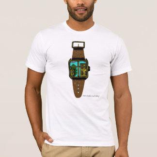 Window to the world watch abstract graphic t-shirt