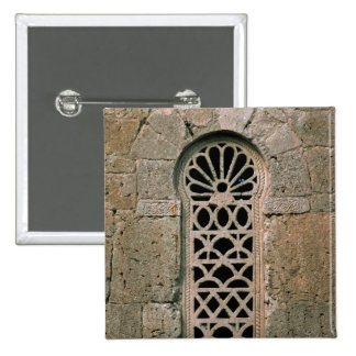 Window tracery, from  Basilica San Juan 2 Inch Square Button