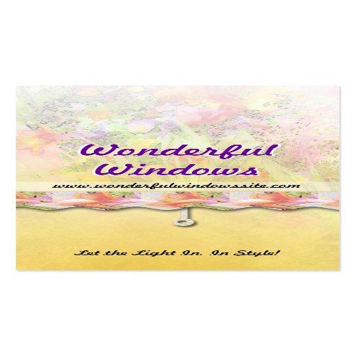 Window Treatment Business Card Zazzle