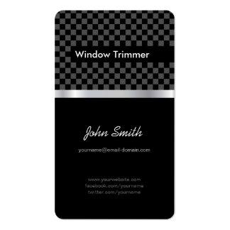 Window Trimmer - Elegant Black Chessboard Business Card Templates