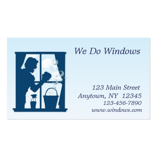 89 window washing business cards and window washing for Window cleaning business cards