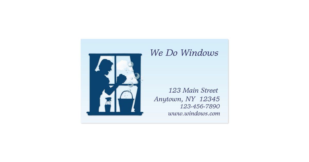 Window washing business card zazzle for Window cleaning business cards