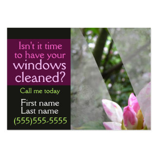 Window washing promotional card template BLK Large Business Card