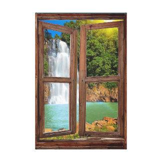 """Window Waterfall View"" Canvas Print"