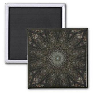 Window Web Mandala 2 Inch Square Magnet