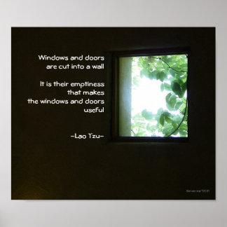 Window/Wisdom of Lao Tzu Poster