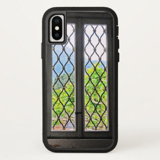 """""""WINDOW WITH DIAMOND DESIGN AND VIEW TO OUTSIDE"""" iPhone X CASE"""