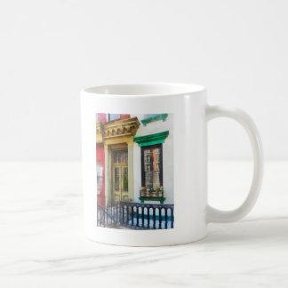 Window With Reflections and Windowbox Coffee Mug