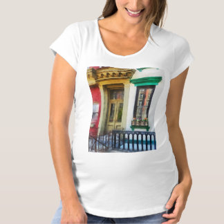 Window With Reflections and Windowbox Maternity T-Shirt