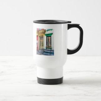 Window With Reflections and Windowbox Travel Mug