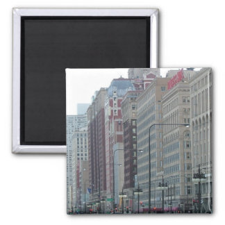 Windows abstract 2 inch square magnet