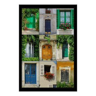 Windows and Doors of France Poster